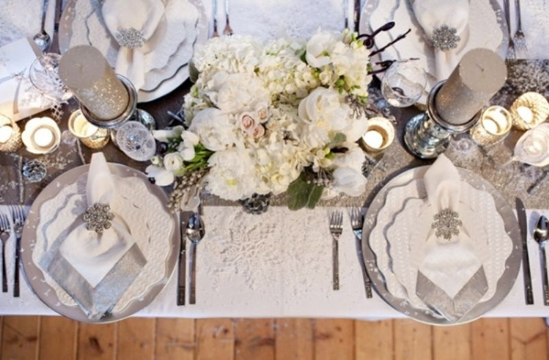 Elegant Wedding Decoration Idea! This Winter Wedding Table Top Decorations  Are Just So Lovely!