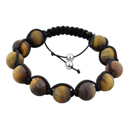 12.5mm Matte Tiger Eye Beads and Black String 11 Bead Shamballa Bracelet Avend Concepts. $37.95. Save 46%!
