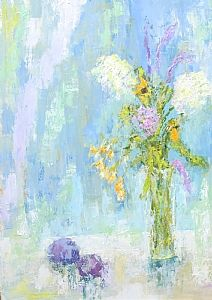 """Summer Moment by Ann Smith Oil ~ 40"""" x 30"""" Always loved her use of color and texture.  Even more stunning in person"""