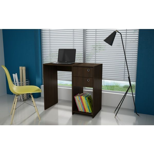 Manhattan Comfort Pescara Double Drawer Desk Modish Store