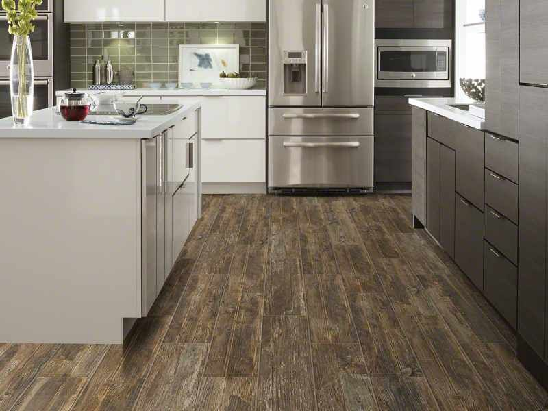 A Super Rustic Wood Look Ceramic Tile 24 Long Plank That Is Well