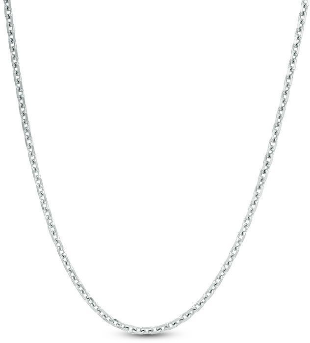 Zales 2.3mm Diamond-Cut Cable Chain Necklace in Sterling Silver - 24 KOStorE7C