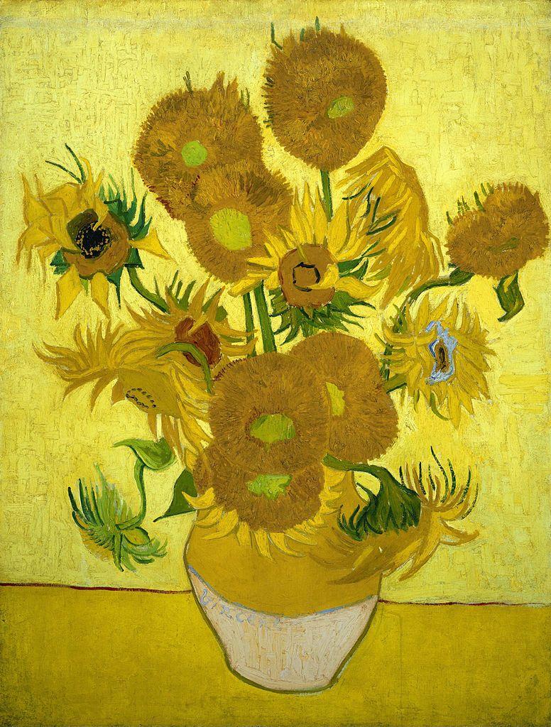 Van Gogh Sun Flowers Flores pintadas, Pinturas de