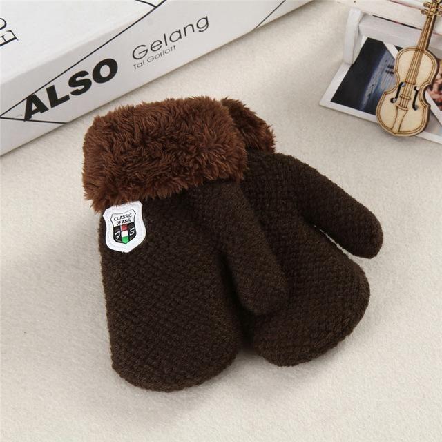New Arrival Winter Baby Boys Girls Knitted Gloves Warm Rope Full Finger Mittens Gloves for Children Toddler Kids CX935216