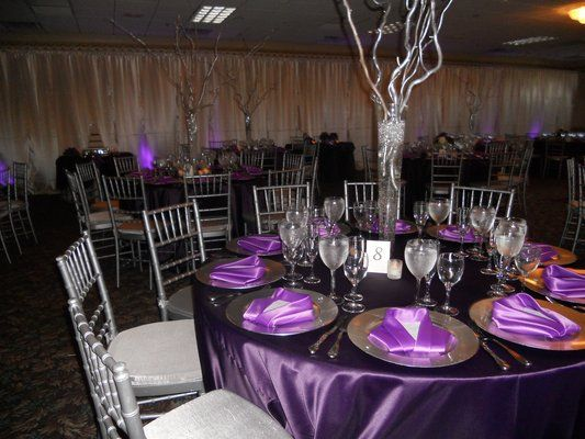 Elegant Party Decorations 50th Birthday pinterest 50th birthday party ideas | lovely purple and silver