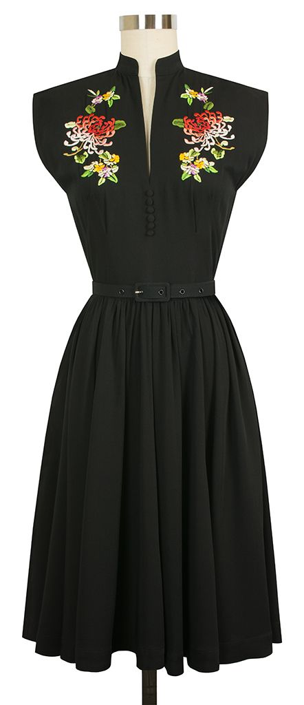 Pinup Fashion: The Trashy Diva Maria Dress now comes in Black!! You could wear this all year!!