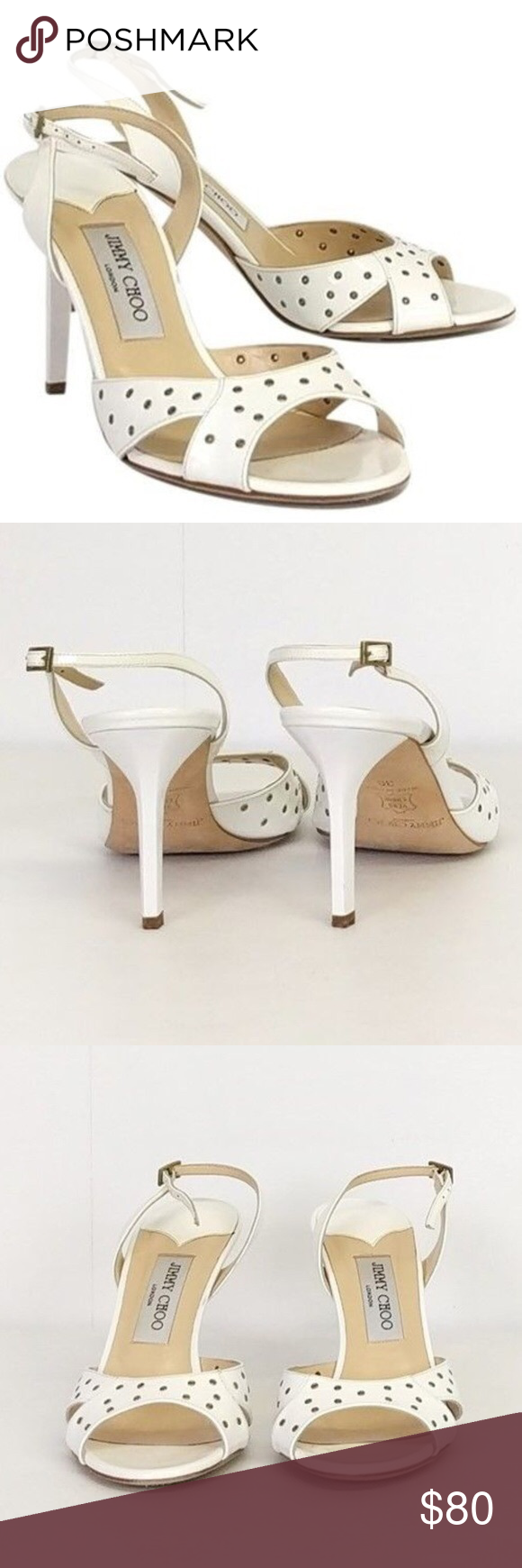 0dbc71a3f08 Jommy choo white leather heels Jommy choo white leather heels size eu 41  Jimmy Choo Shoes Heels