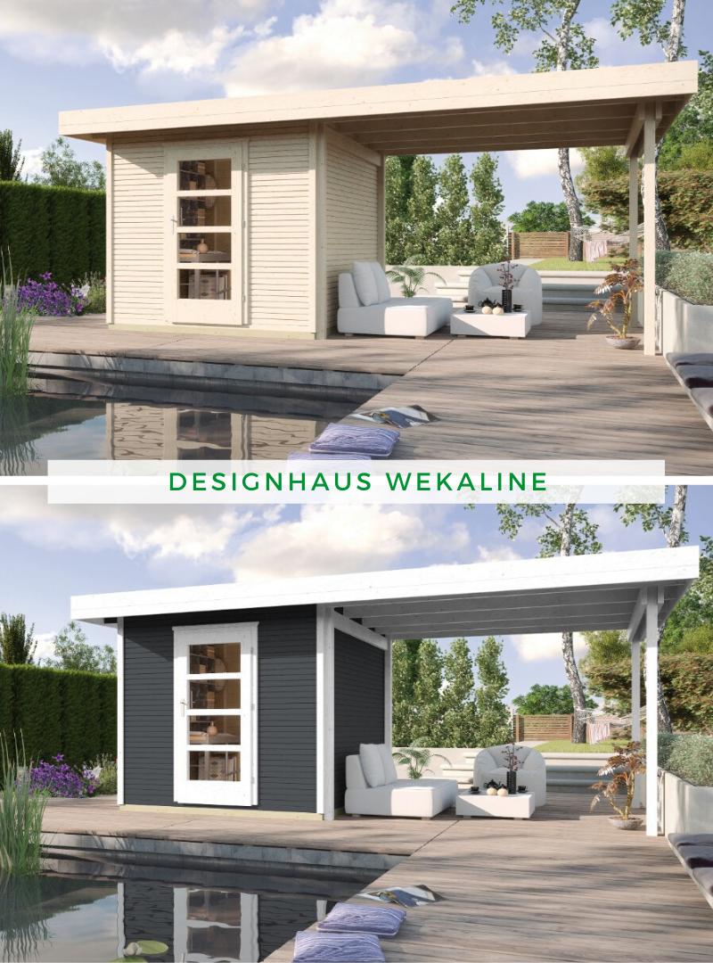 Weka Designhaus Wekaline 172 B Gr 2 28 Mm Gartenhaus Mit Terrasse Design Gartenhaus Gartenhaus