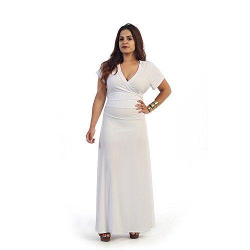 Short White Plus Size Maxi Dresses