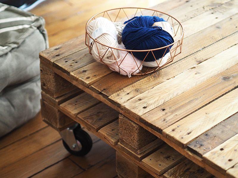 Comment Faire Une Table Basse Avec Des Palettes   Diy   Pinterest