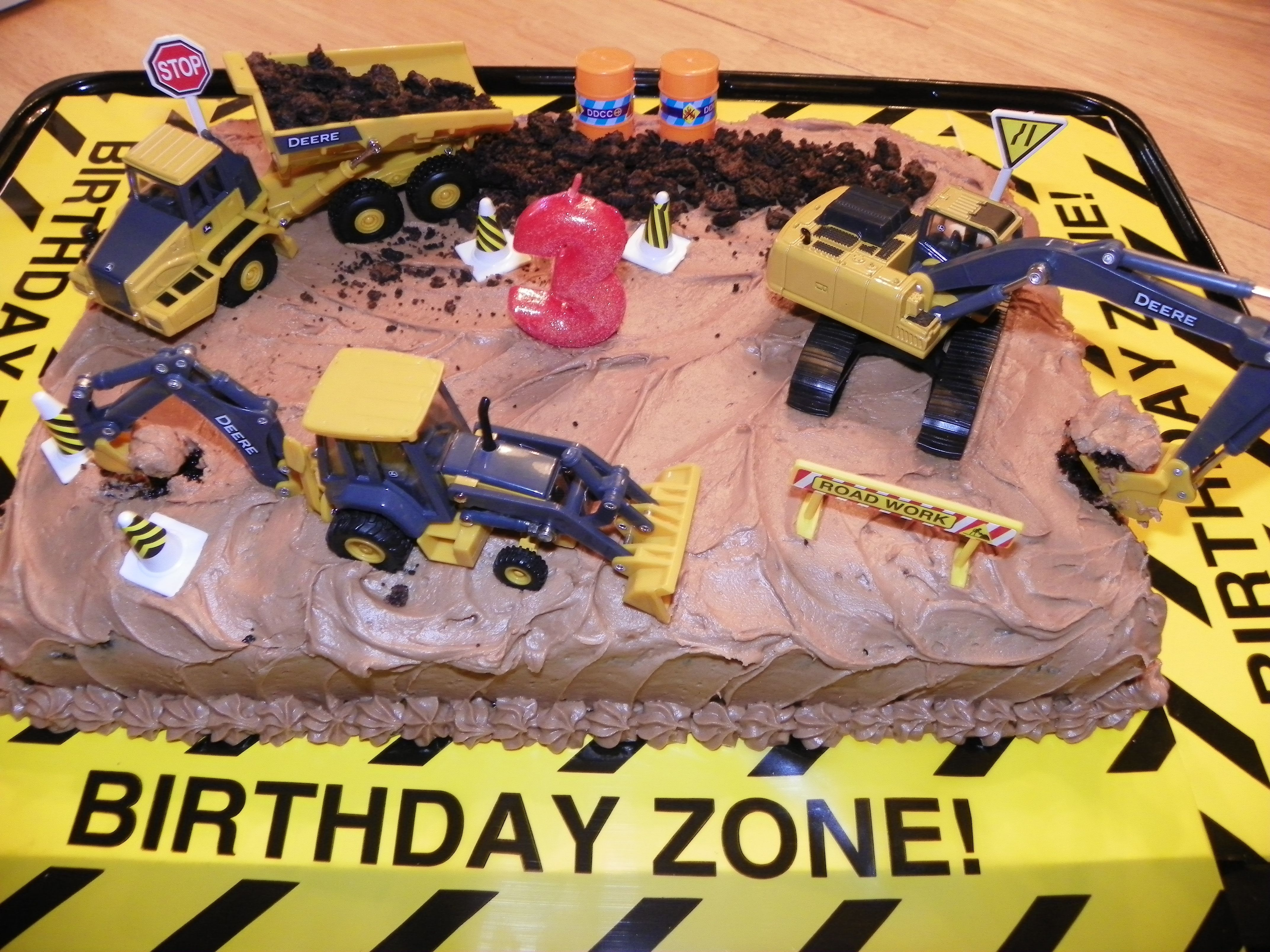 Construction cake for 3rd Birthday Was great fun making a