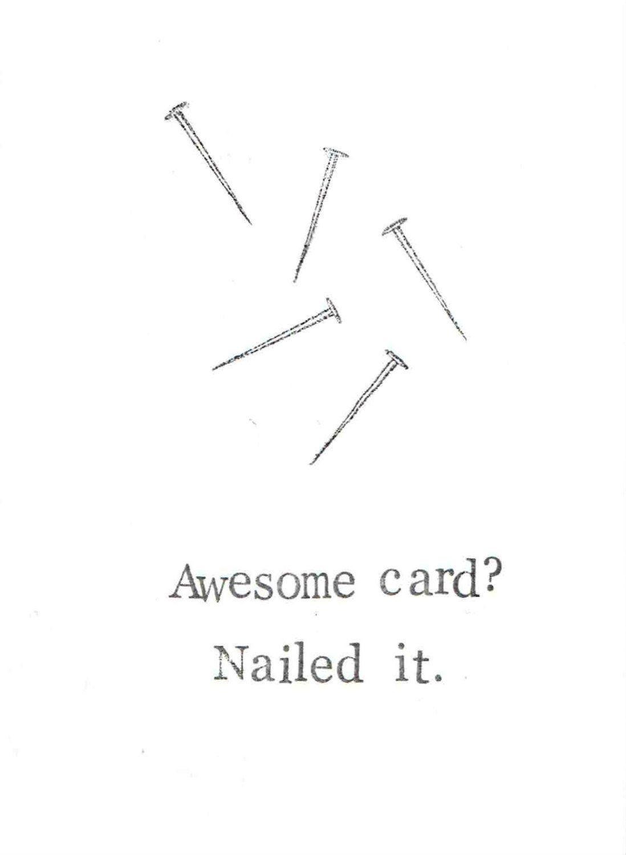 Nailed It Funny Birthday Card