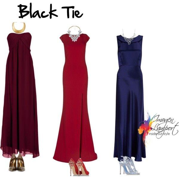 Black Tie Polyvore Dresses For Apple Shape Black Tie Dress Long Plus Size Red Dress