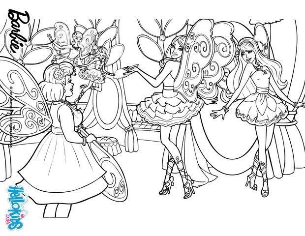 Fairy Wings Barbie Coloring Page More Barbie A Fairy Secret