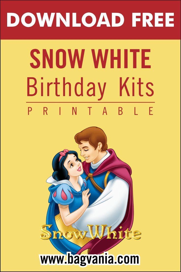 Free Printable Snow White Birthday Party Kits Template ...