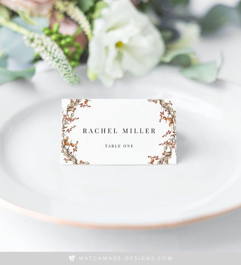 Black Wedding Place Card Template Printable Name Card Black Etsy Wedding Table Name Cards Wedding Place Card Templates Wedding Name Cards