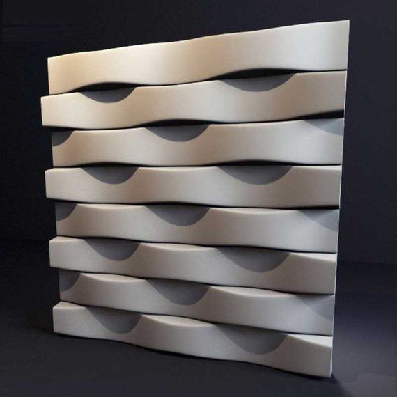 *wave* 3d Decorative Wall Panels 1 Pcs Abs Plastic Mold For Plaster Sculpting, Molding & Ceramics