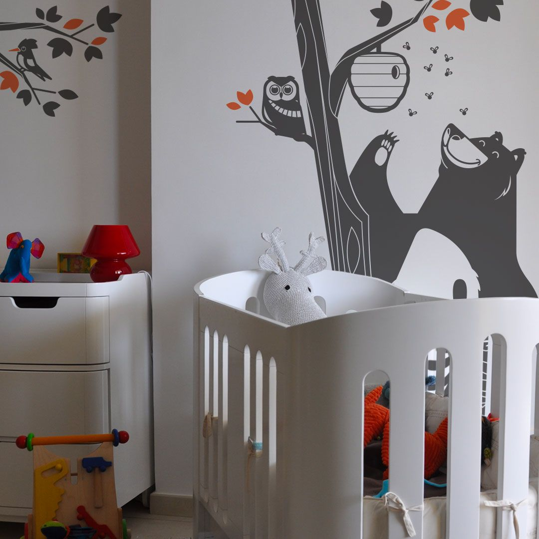 Forest animals kids wall decals  Deco chambre, Chambre
