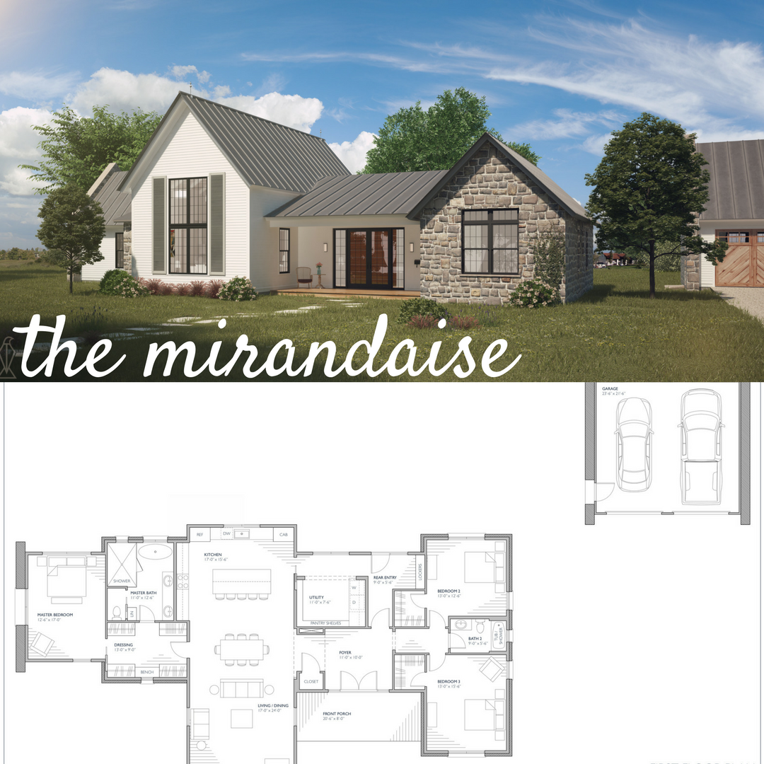 One Story Farmhouse Style Floor Plan With 3 Bedrooms Open Living Detached Garage Craftsman Style House Plans Farmhouse Plans Farmhouse Exterior