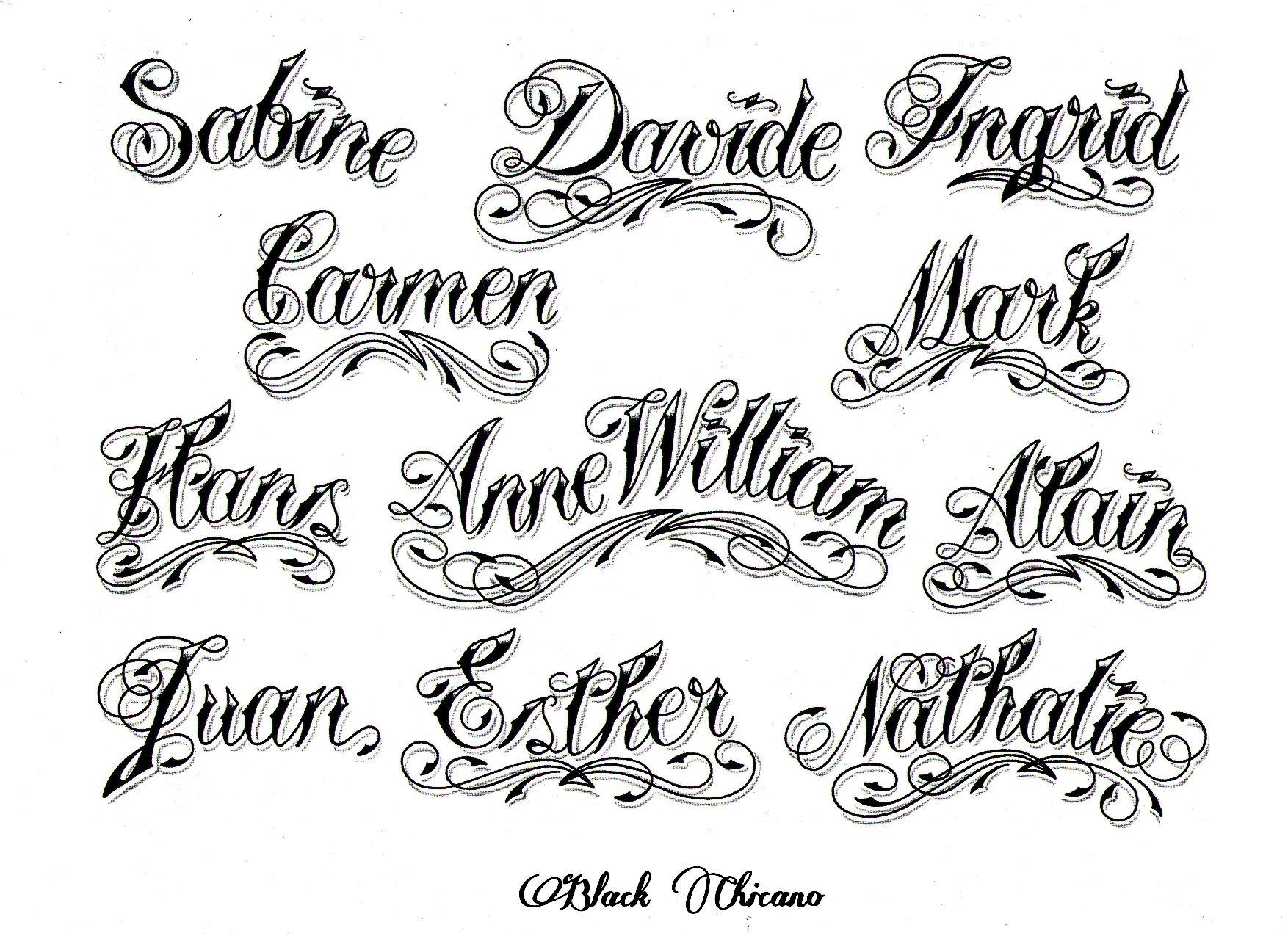 Tattoo Font Generator Cursive Tattoo Script Creator Roman Numerals