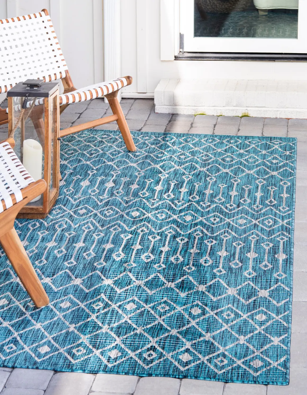 Teal 8 X 11 4 Outdoor Lattice Rug Rugs Com In 2020 Outdoor Trellis Indoor Outdoor Area Rugs Trellis Rug