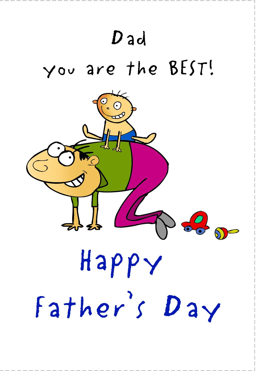 Fathersday Card Free Printable Customize Add Images