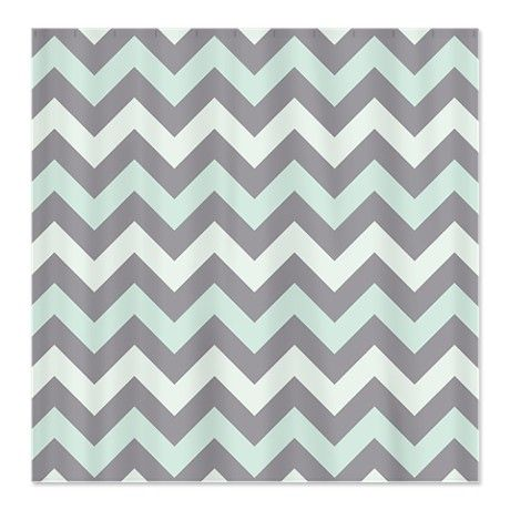 Green And Grey Shower Curtain. Sea foam ZigZag pattern Shower Curtain  Bedroom mint Kitchen