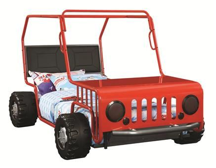 Casey Transitional Black Red Metal Leatherette Jeep Twin ...