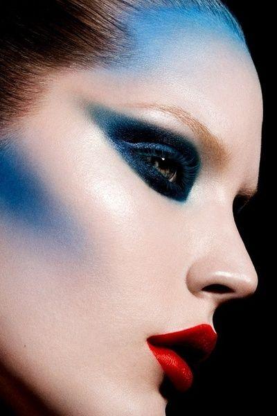 Blue High Fashion Make Up Couture Makeup Dramatic Makeup Fashion Editorial Makeup