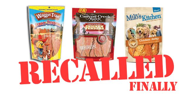 Chicken Jerky Recall Waggin Train Canyon Creek Ranch And Milo S