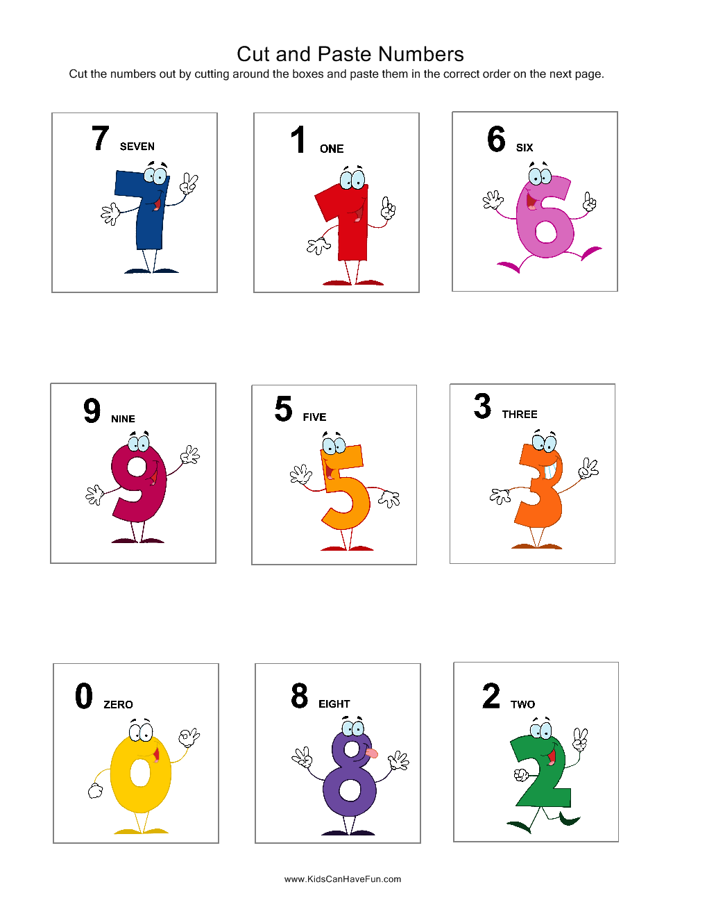 Cut and Paste Numbers   Favorite Places and Spaces   Pinterest ...
