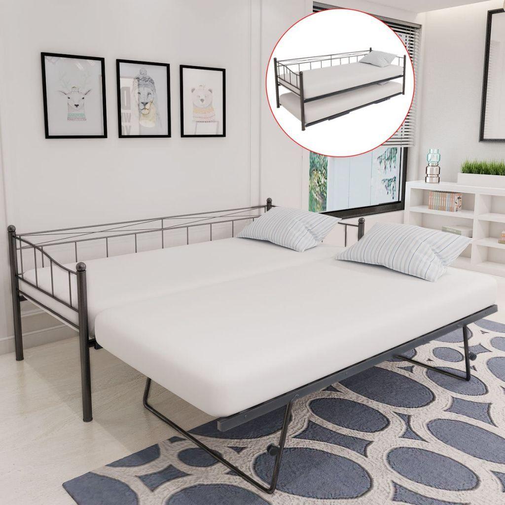 a vidaxl cama de dia de material acero solo marco incluido ...