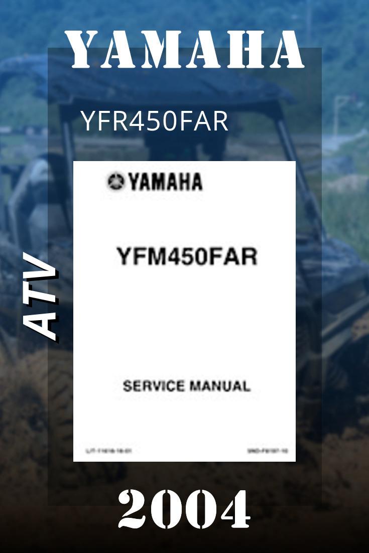 2004 Yamaha Yfr450far Service Manual Lit 11616 16 01 Yamaha Atv Manual Yamaha