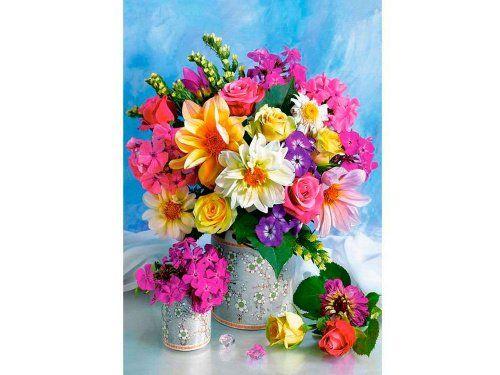 Картина по номерам «Букет цветов»   Цветочная вышивка ...