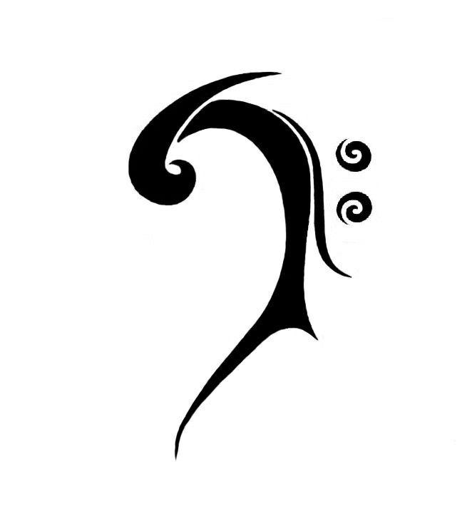bass clef tattoo tattoo flash pinterest clef bass and tattoo. Black Bedroom Furniture Sets. Home Design Ideas