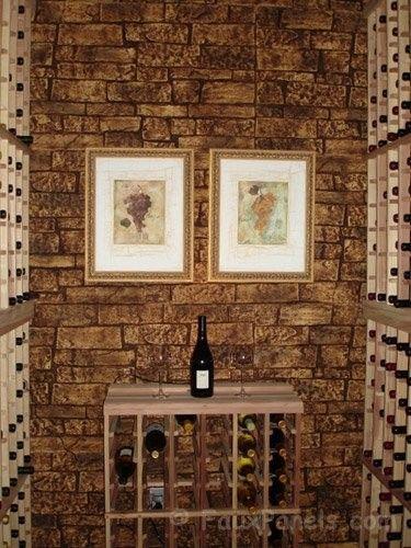 Marvelous Diese Schmalen Weinkeller Ist Faux Stein Verkleidung, Geben Dem Keller Die  Gleiche Atmosphäre Als Untergrund