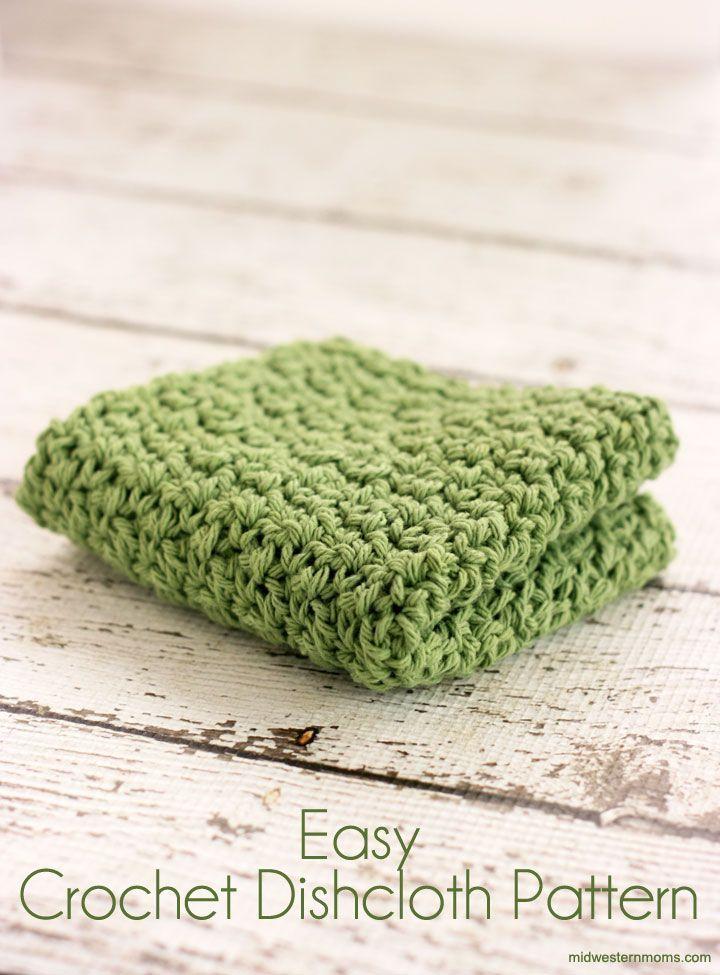 Easy Crochet Dishcloth Pattern | gehäkelte Abwaschlappen, Häkeln ...