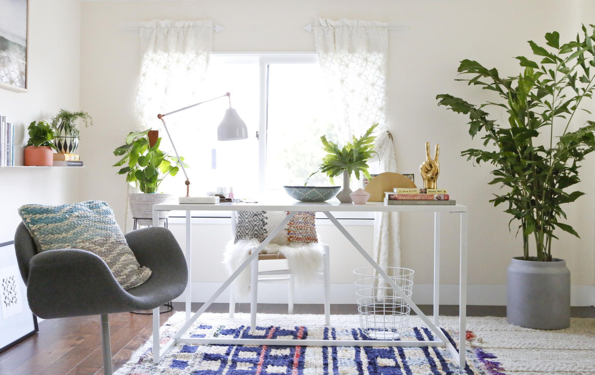 Office tour modern bohemian home sweet home pinterest modern