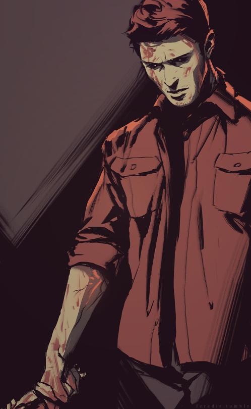 Feredir Supernatural Drawings Supernatural Dean Supernatural Art