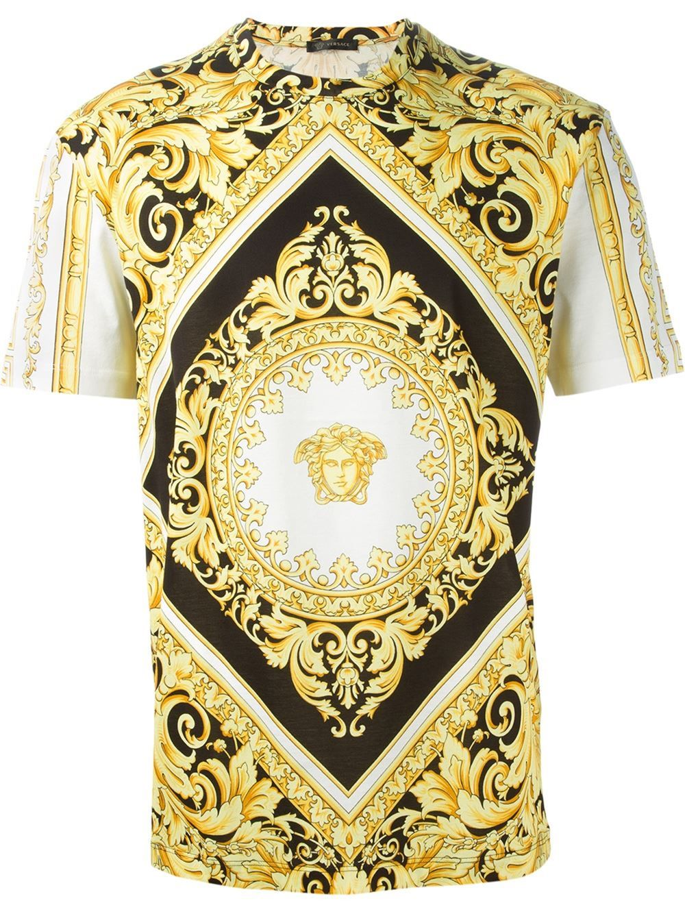 Versace Medusa Baroque T Shirt Eraldo Farfetch Com Versace Herren Versace T Shirt T Shirt Manner