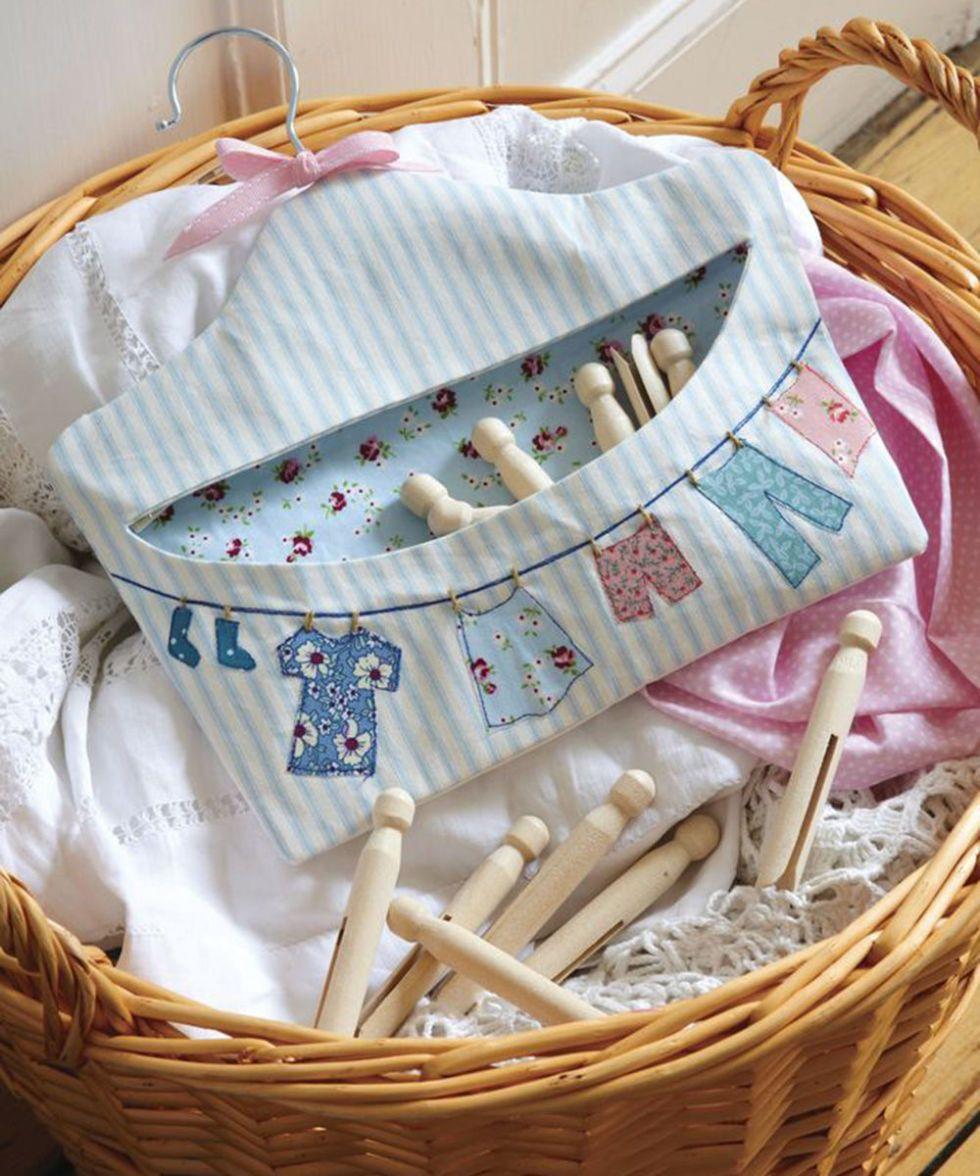 Make Wash Day Fun With A Pretty Fabric Peg Bag | Peg bag, Bag and Craft