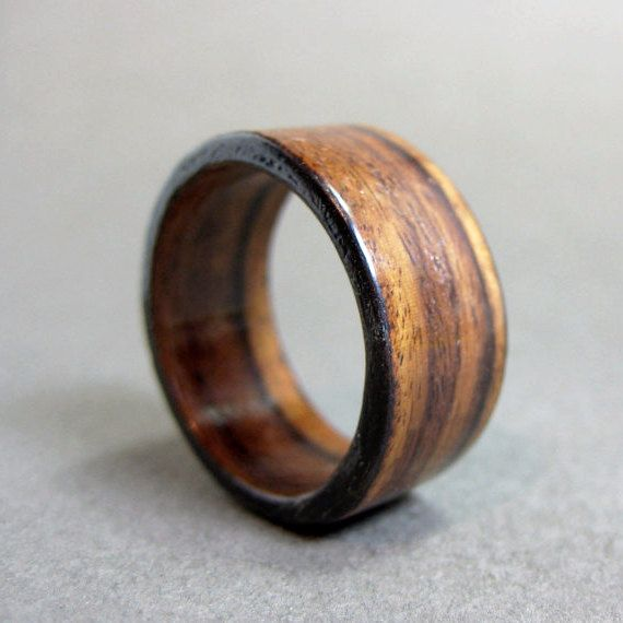 and rosewood inlay santos liner bentwood product yellow gold ring with rings