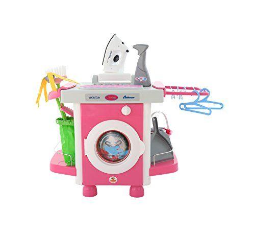 Polesie 48103 Set Waschmaschine mit Zubehör Carmen. Aus