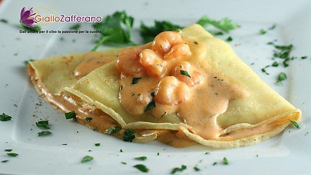 Ricette crepes con gamberetti