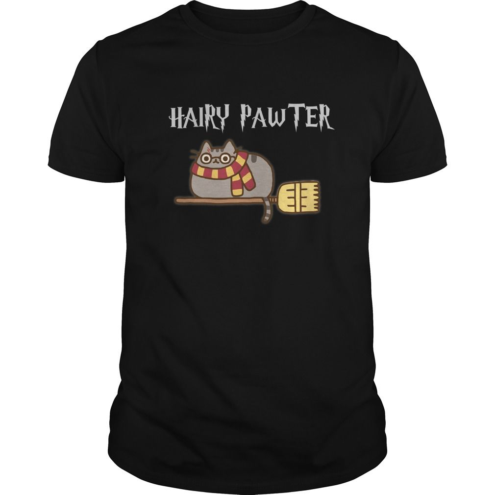 Hairry Pawter Fat cat on broomstick T Shirts Hoo s BUY IT NOW