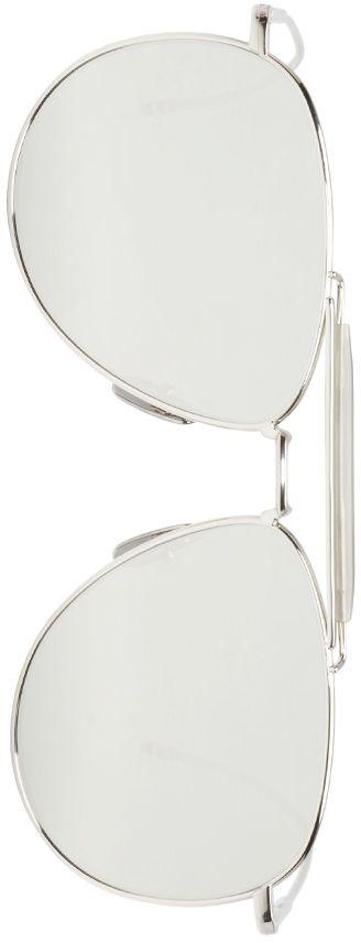 Thom Browne - Silver Mirrored Aviator