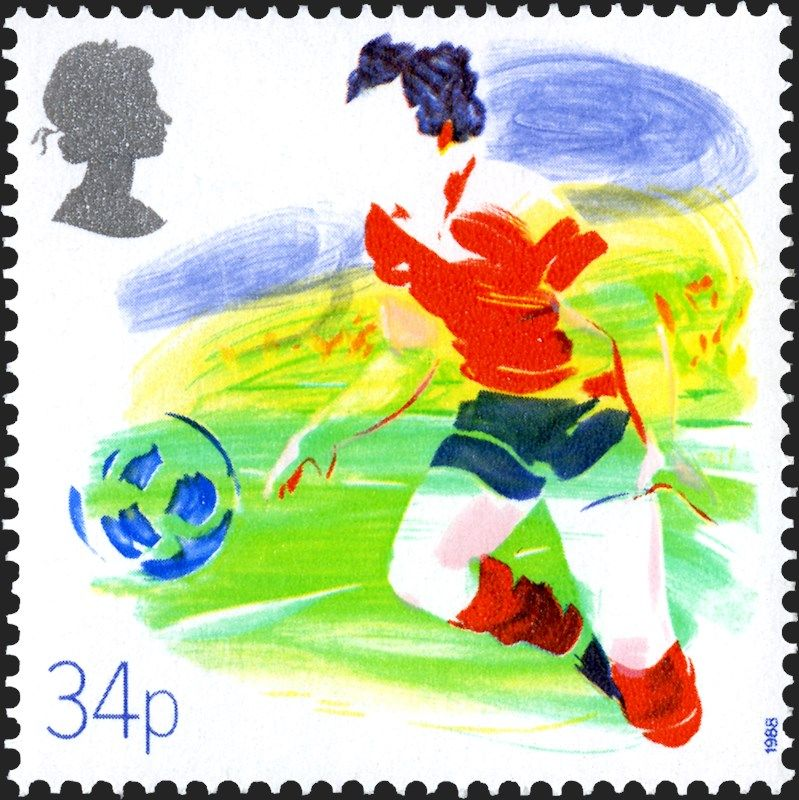 Royal mail special stamps football postage stamp