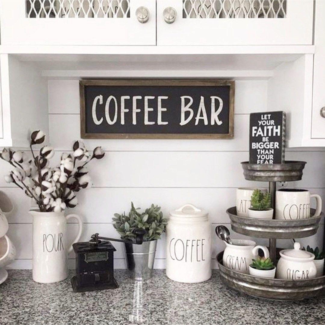 DIY Coffee Bar Ideas - Stunning Farmhouse Style Beverage Stations ...