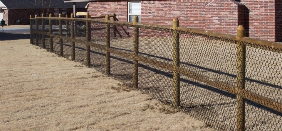 chain link horse fence hybrid chain link u0026 wood