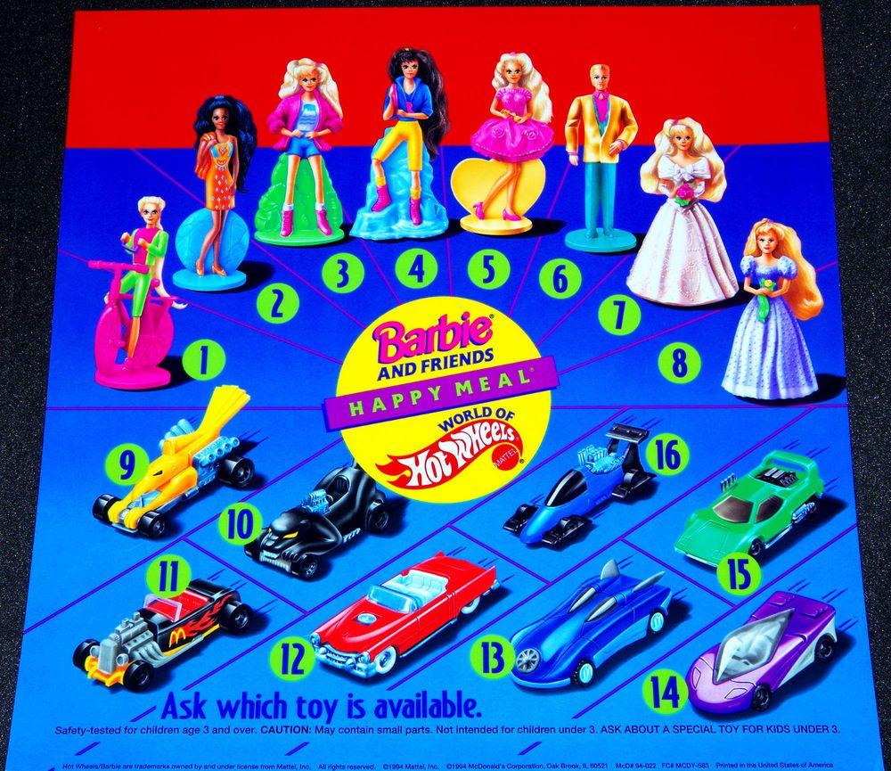 Mcdonalds Barbie Hot Wheels Mattel Happy Meal Toys Translite Display Poster Sign Mcdonaldsmattel Happy Meal Toys Happy Meal Mcdonalds